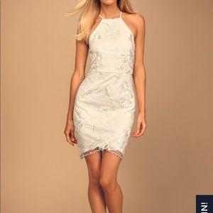 White Lulu's Lace Bodycon Dress